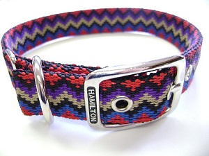Hamilton Double Thick Nylon Deluxe Dog Collar