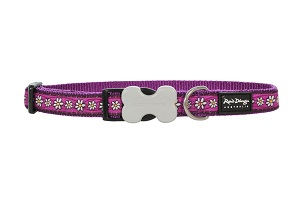 Red Dingo Designer Dog Collar Large
